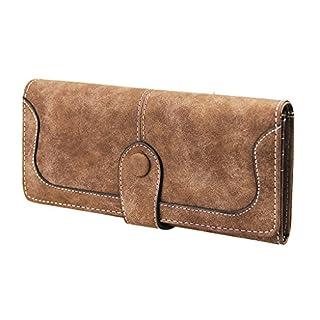 Afinder PU Leder Damen-Portmonee Vintage Geldbeutel Geldbörse Geldtasche Portemonnaie mit Geldklammer Kreditkartenetui Brieftasche mit RFID-Blocker