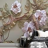 Fertigen Sie jede Größe 3D Tapete Wandbild Stereoskopische Relief Blume Baum Wohnzimmer Schlafzimmer Tv Hintergrund Wanddekoration Wandbild(W)140x(H)100cm