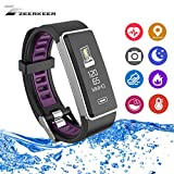 ZEERKEETR Smart Armband Fitness Uhr, Activity Tracker mit Herzfrequenz Monitor & Sleep Monitor Schrittzähler Smartwatch Bluetooth Nachrichten Benachrichtigung