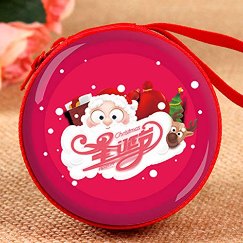 Wzp regali di natale creativo cartoon bambini giocattoli santa coin purse window pendant cuffia storage box,15