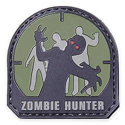 Zombie Hunter Grün Pvc Airsoft Klettverschluss Abzeichen