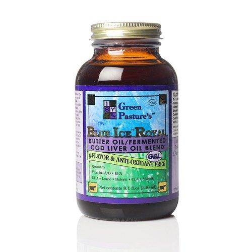 Green Pasture - Blue Ice Royal Butter Öl/Fermentierter Lebertran Gel - Choco - 240 ml