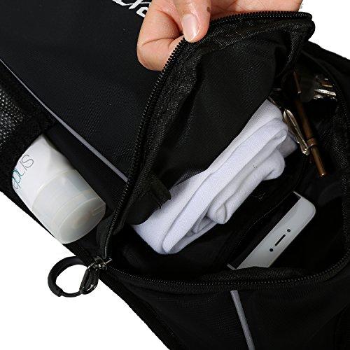 TOURIT Ultra Leichtgewichtige Trinkrucksack mit 2L Trinkblase geeignet zum Camping Laufen, Wandern, Klettern, Fahrradfahren, Schwarz - 7