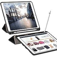 Ztotop Funda para iPad Pro 10.5 con Porta-lápiz, Ultra Delgado y Suave TPU Negro y Cubierta Triple del Sistema, función Auto-Activa, Funda Elegante Protectora de Cuerpo Complete, Negro