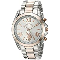 U.S. Polo Assn. Womens Quartz Watch, Analog Display and Stainless Steel Strap USC40118