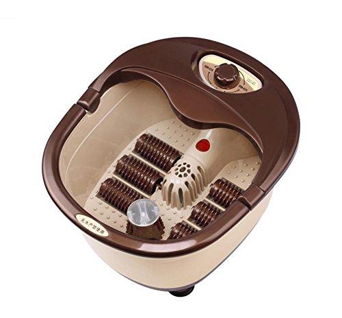 HHBO Fuß Wanne Elektrische Fußmassage Heizung Füße Fußbad Fußmaschine - Tragbare Griff Auswahl Button Switch Sechs Runde Massage und rote Lichttherapie Durchblutung zu fördern