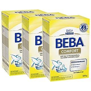 Nestlé BEBA Comfort Spezialnahrung bei 3-Monatskoliken, Durchfall & Blähungen, Anfangsmilch, alleinige Säuglingsnahrung, von Geburt an, 3er Pack (3 x 600 g)