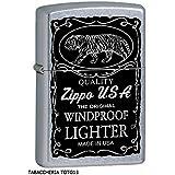 15l012Briquet Zippo, en laiton, gris, 5.70x 3,70x...