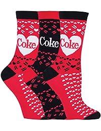 Ladies 2 Pair Coca Cola Vintage Printed Socks
