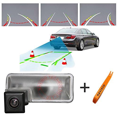 Dynavision 170° Betrachtung Track Kamera Lineal Linie mit dem Lenkrad bewegen Rückansicht Backup-Kamera,Nachtsicht CCD für Impreza WRX gh2 gh3 gh6 7 8 GRB GRF GJ2 3 (Nr. 4 mit trajektorienlösung)