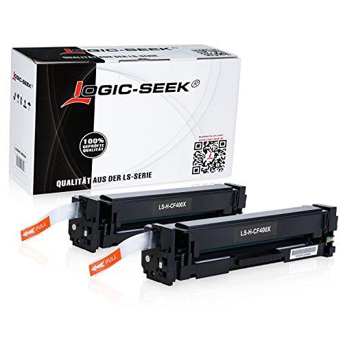 2 Logic-Seek Toner kompatibel zu HP CF400X für HP Laserjet Pro MFP M277dw, MFP M277n, MFP M274n, M252dw, M250 Series - 201X - Schwarz je 2.800 Seiten