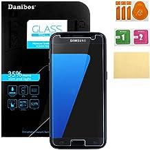 Samsung Galaxy S7 Templado Cristal, Danibos Protector De Pantalla Vidrio Templado Ultra Transparente Anti-shatter Película Para Samsung Galaxy S7 (Más Pequeña Que La Pantalla, Ya Que Es Curvo)