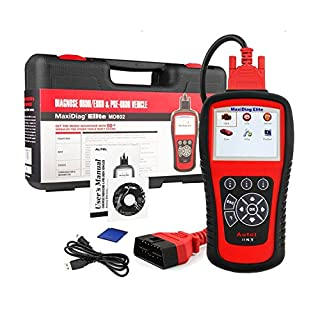 Autel Scanner MD802 OBD2 Code Reader MaxiDiag Elite Diagnostic Car Scan Tool for Engine, Transmission, ABS, Airbag, EPB, Oil Service Reset and SRS