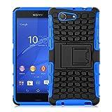 JAMMYLIZARD Outdoor Hülle für Sony Xperia Z3 Compact | Schutzhülle [Alligator] Doppelschutz Handyhülle Hardcase aus Polycarbonat und Silikon Backcover Lifeproof Case Cover, Blau