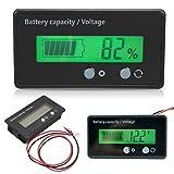 Zerone Digital-Multimeter, LCD-Anzeige Batteriekapazität Voltmeter Meter Monitor 6-70V Multifunktions-Meter Batterieanzeige Monitor-Modul Elektrische Menge Detector Reader für Auto-Fahrzeug