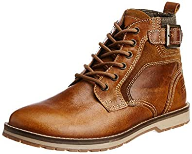 Yezdi Men's Stockport Brown Leather Boots - 10 UK