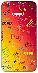 Puji (Gentle) Name & Sign Printed All over customize & Personalized!! Protective back cover for your Smart Phone : Micromax YU Yureka AO5510