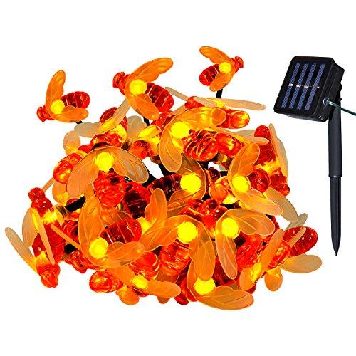 Yasolote 30led ape luce della stringa 6m solare luci a corda leggiadramente catene luminose esterno per decorazione natalizia, casa, patio, terrazza, balcone, alberi