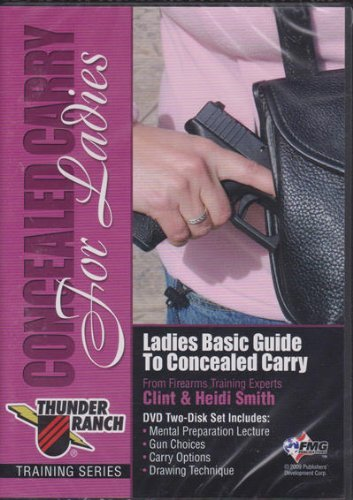 Concealed Carry for Ladies ~ 2 DVD Set ~ Firearms Training ~ Tactical Handgun Thunder Ranch Dvd