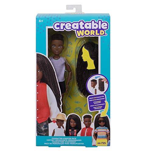 Creatable World pack de personajes, cabello con trenzas juguete para niños y niñas +6 años (Mattel GKV42)