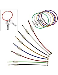 UOOOM 20 porte-clés de corde colorée en acier inoxydable (15cm/6 pouces)