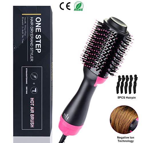 Cepillo alisador cabello secador voluminizador paso