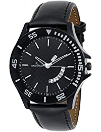 HASHTAG BLACK DIAL DAY AND DATE DISPLAY WATCH FOR MEN
