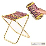 RTGFS Folding ChairOutdoor Camping Fishing Stool Folding Chair Hiking Picnic Beach Travel Seat with Pouch Multicolor