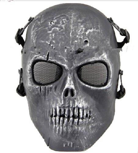 Hoch Halloween (Coofit Ghost Skull Airsoft Paintball Maske militärische Vollschutz Halloween-Kostüm (Style)