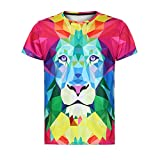 CICIYONER Herren T-Shirt Kurzarm-Shirt Casual Strassenmode Sport Spaß Tops 3D Print T-Shirt Gym Herren Fitness Tshirt M-3XL