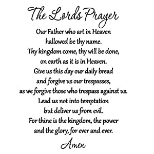 Buy The Lord S Prayer Bible Wall Decal Our Father Vinyl