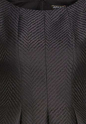 APART Fashion Damen Kleid Grau-Multicolor