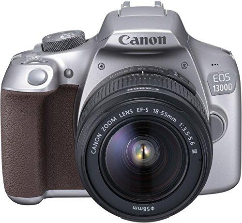 Canon EOS 1300D - Digitale Spiegelreflexkamera Kit inkl. EF-S 18-55mm III Objektiv, silber