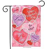 Best Briarwood Lane Garden Decors - Valentine's Messages Garden Flag Hearts Holiday 12.5