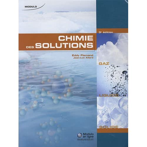 Chimie des solutions : 3e édition