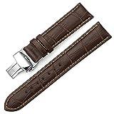 IStrap 18mm 19mm 20mm 21mm 22mm24mm Bracelets de montres en cuir véritablestraps grain alligator Pattern Remplacement Bracelet de montre  Marron