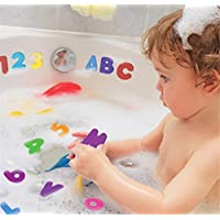 Lomire Baby Bath Foam Letter Toys , Numbers and Letters Puzzle Bath Toys 36pcs