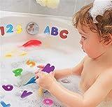 Lomire Baby Badeschaum Brief Spielzeug, Zahlen und Buchstaben Puzzle Badespielzeug 36pcs