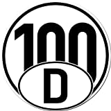Set 4 Stück Aufkleber Sticker 2x 20cm Schild 100 km/h kmh Geschwindigkeit + 2x D Deutschland Länderkennzeichen