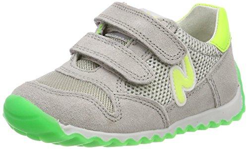 Naturino Sammy, Sneaker Bambino, Multicolore (Grigio-Verde Fluo 9104), 26 EU
