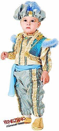 Fancy Me Deluxe Italienischer 6 Stück Baby Kleinkind Jungen Arabian Genie Östliche Prinz Around The World Verkleidung Kostüm Kleidung 0-36 Monate - 2 Years (Baby Genie Kostüm)