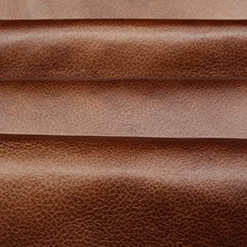Tan Brown Distressed Antique Aged Brown Fire Retardant Faux Leather Upholstery Fabric by I Want Fabric
