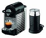 Krups XN301D Nespresso Pixie Bundle - Cafetera de acero inoxidable