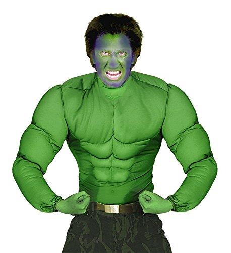 shoperama Hulk muskulöser Oberkörper Grün Herren-Kostüm Sixpack