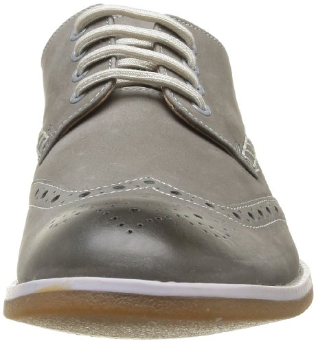 Clarks Farli Limit Herren Brogue Schnürhalbschuhe Grau (Grey Leather)