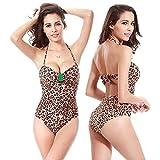 SHISHANG La signora fertilizzante bikini per aumentare di alta qualità in nylon di alta qualità in Europa e negli Stati Uniti morbido e flessibile , vs008c leopard , m