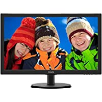 "Philips 223V5LHSB2 Monitor 21.5"" LED, Full HD, 1920 x 1080, 5 ms, HDMI, VGA, Attacco VESA, Nero"