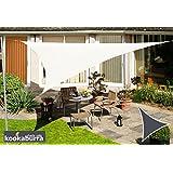 Kookaburra 3,0m Dreieck Elfenbein Gewebtes Sonnensegel (Wasserfest)