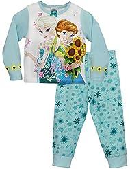 Disney Princess - Ensemble De Pyjamas - La Reine des Neiges - Fille - Anna et Elsa Solstice D'été