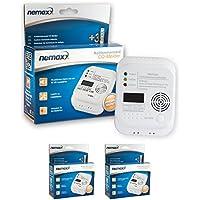 Nemaxx - Detector de CO, Monóxido de Carbono Detector de Gas Alarma de Gas Monóxido de Carbono Según la Norma DIN EN50291, Pack de 2